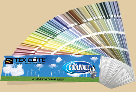 TEXCOTE - COOLWALL color swatches